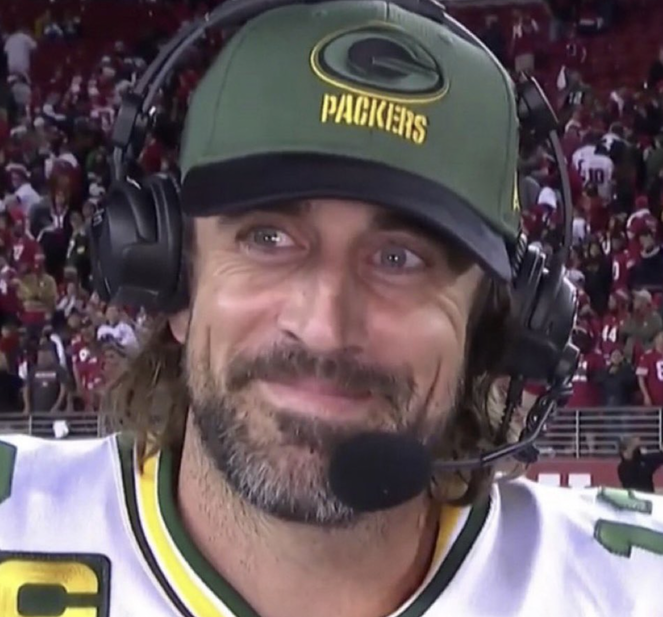 To The Dismay Of Many Sad People, It Appears That Aaron Rodgers Still Cares About Winning Football Games