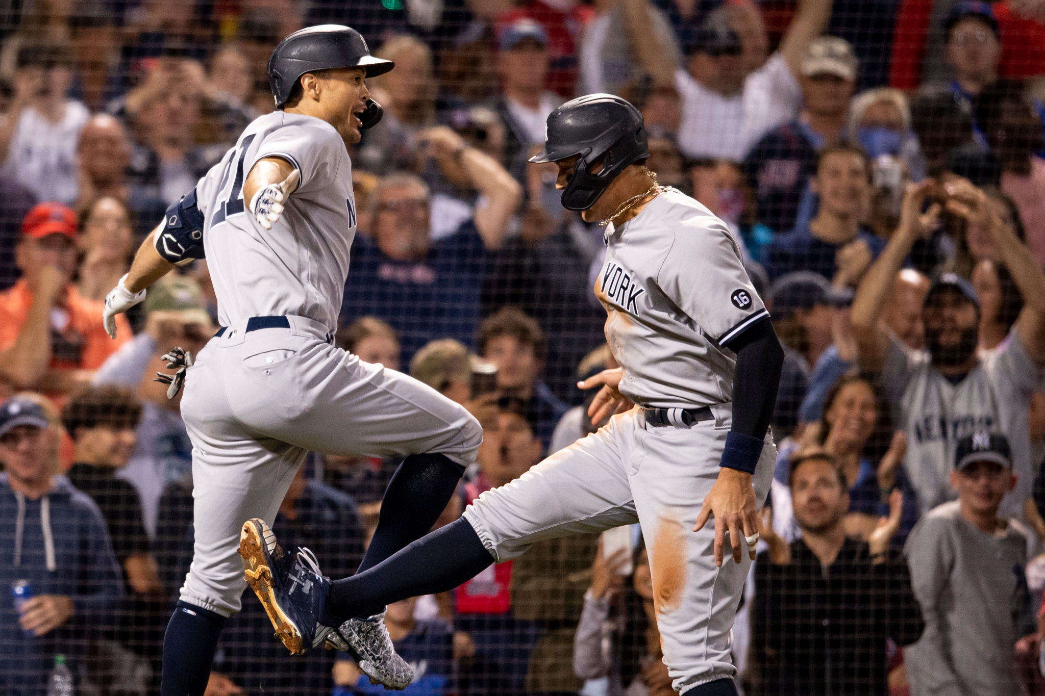 Aaron Judge and Giancarlo Stanton Come Through In The Clutch To Complete the Yankees' Massive Sweep In Fenway