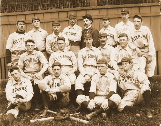 1896 Pittsburgh Pirates featuring  Louis Bierbauer second row second from left.