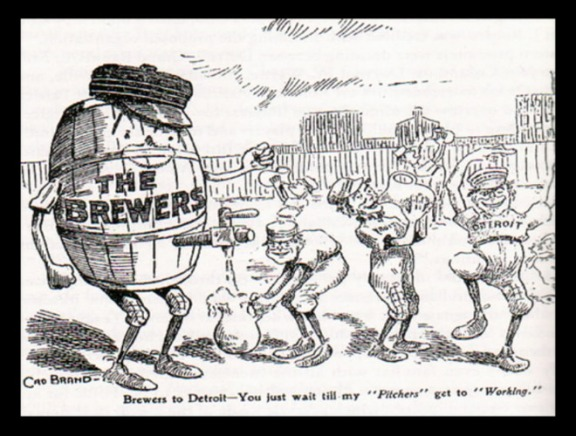 An early newspaper cartoon depicting the Brewers name
