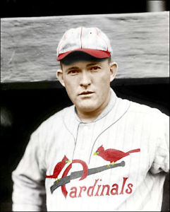 Rogers Hornsby in his St. Louis Cardinals uniform.