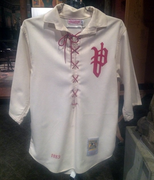 An early Philadelphia Phillies uniform.