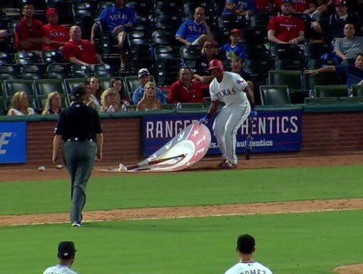 Adrian Beltre Was Ejected For Moving The On Deck Circle